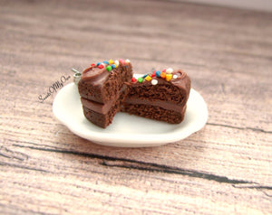 Chocolate Cake with Sprinkles Stud Earrings - SweetsOfMyOwn