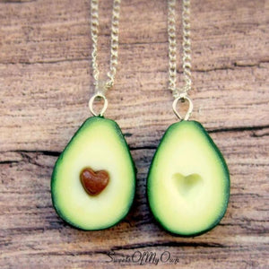 Avocado Halves (Heart Seed) - BFF Necklaces