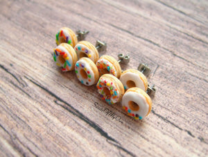 White Donuts - Stud Earrings - MTO