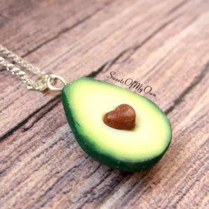 Avocado Half (Heart Seed) - Necklace
