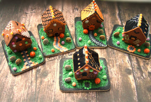 Halloween Gingerbread House - Miniature 1:12 Scale