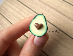 Avocado Heart Pin - SweetsOfMyOwn