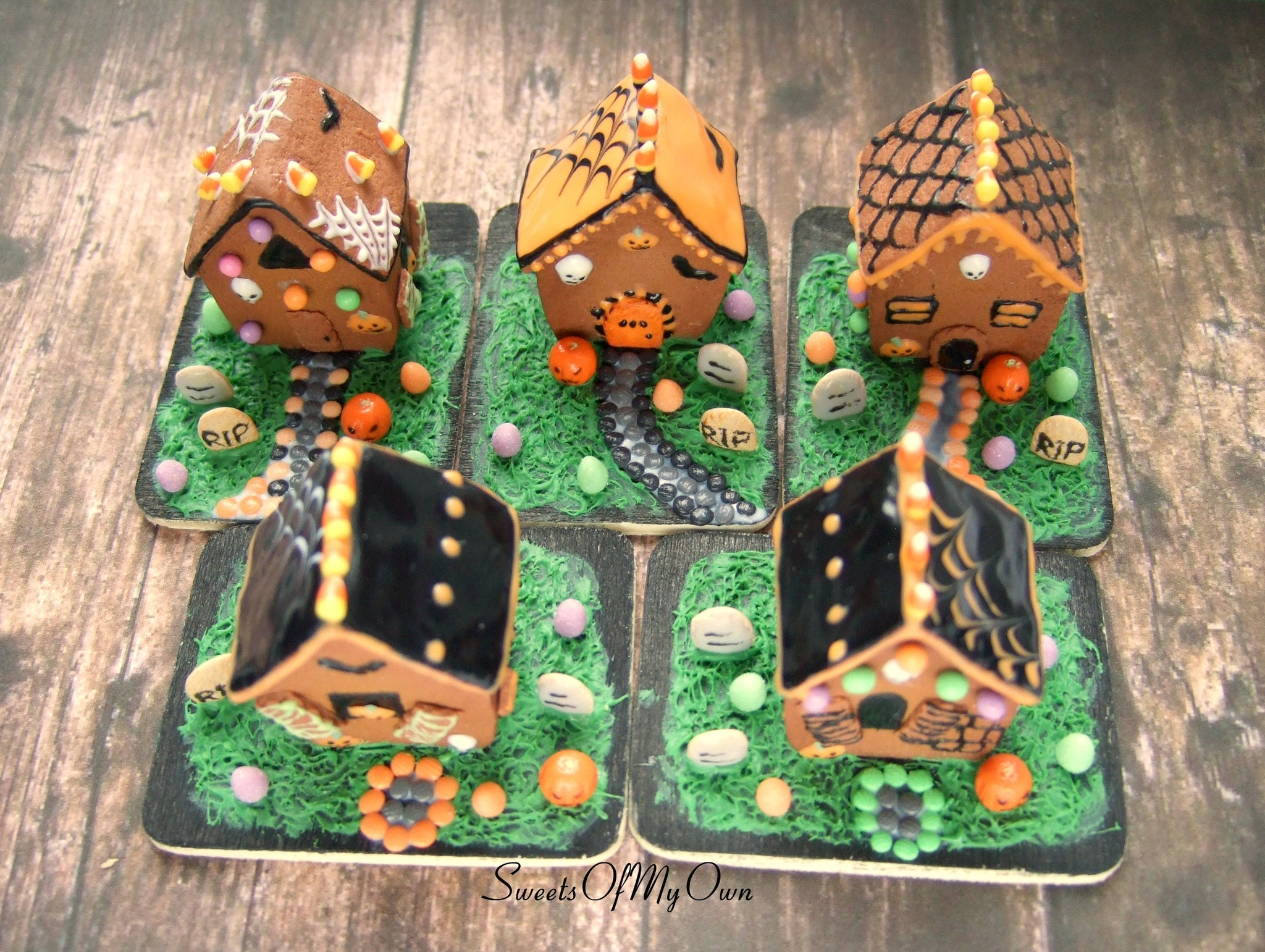 halloween gingerbread house miniature 112 scale