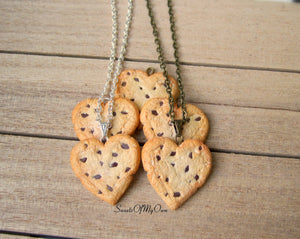 Heart Chocolate Chip Cookie - Charm/Necklace/Keychain - MTO
