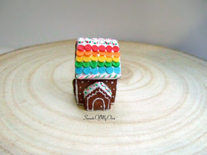 Gingerbread House Rainbow Roof - Miniature 1:12 Scale