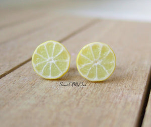 Lemon Slices - Stud Earrings