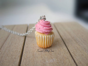 Pink Cupcake - Necklace/Charm - MTO