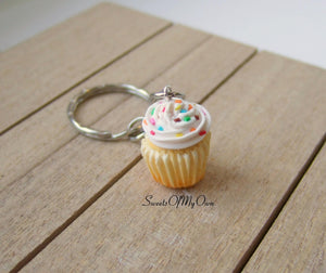White Cupcake - Necklace/Charm/Keychain - MTO