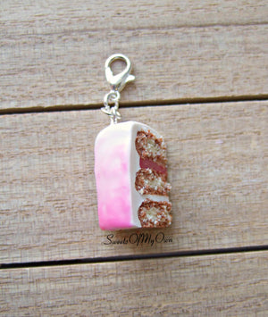 Pink Ombre Cake Slice Charm
