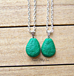 Avocado Necklaces - BFF Set - 1.5cm in size.