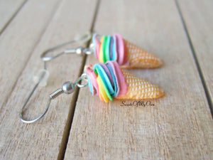 Rainbow Ice Cream - Dangle Earrings - MTO