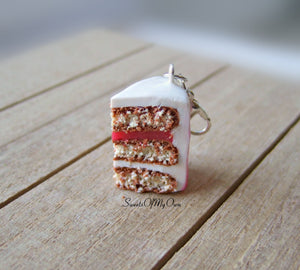 Pink Ombre Cake Slice Charm - SweetsOfMyOwn