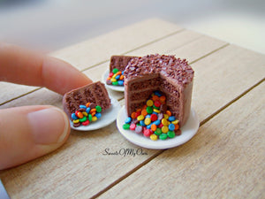 Chocolate Pinata Cake Miniature - Dolls House Miniature