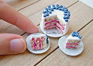 MTO - Blueberry Cake Miniature - Doll House 1:12 Scale - SweetsOfMyOwn