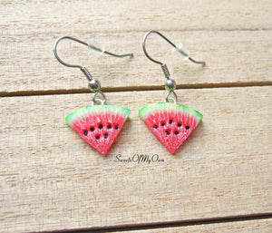 Watermelon Dangle Earrings - MTO