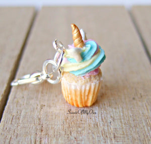 Unicorn Cupcake Charm (small)