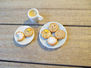 Miniature Crumpets and Tea 1:12 Scale - SweetsOfMyOwn