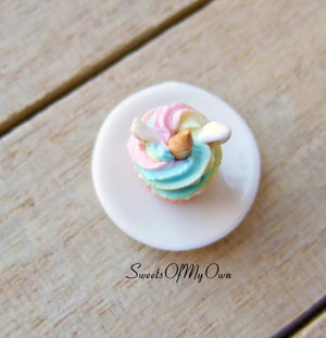 MTO - Miniature Unicorn Cupcakes - Doll House 1:12 Scale - SweetsOfMyOwn