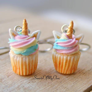 Unicorn Cupcake Dangle Earrings - SweetsOfMyOwn