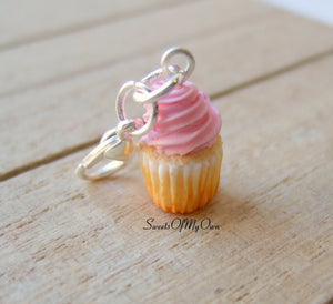 Pink Cupcake Charm (small) - Necklace/Charm - MTO