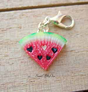 Watermelon Heart Seeds Charm - Necklace/Charm - MTO