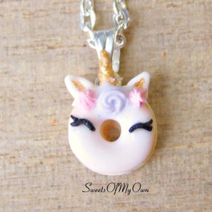 Smiling Unicorn Doughnut Charm (small)