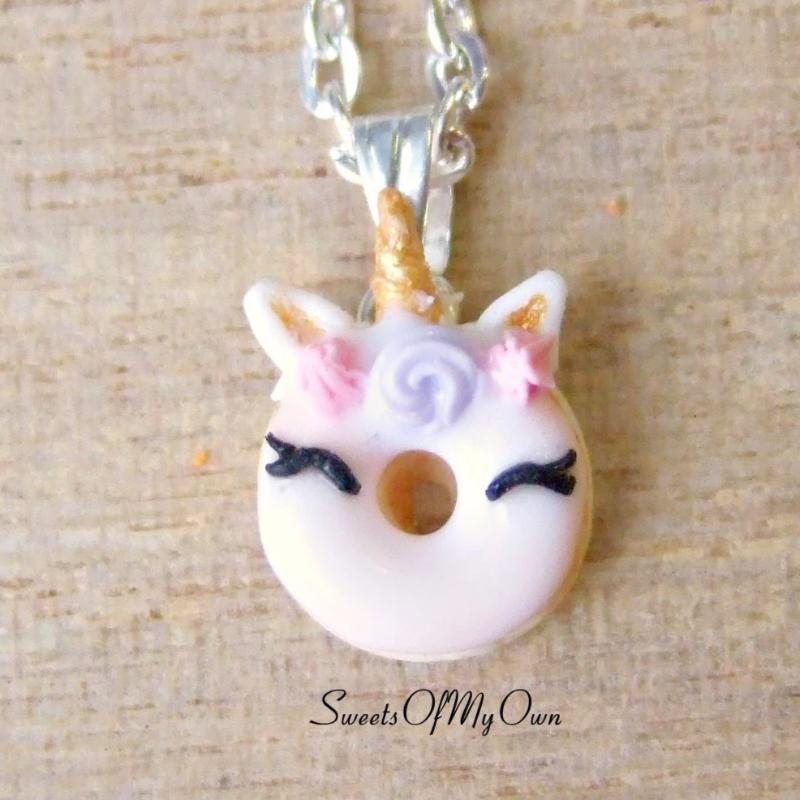 Smiling Unicorn Doughnut Charm (small) - SweetsOfMyOwn