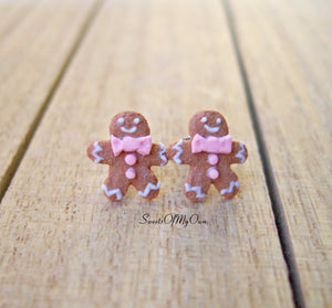 Gingerbread Ladies Stud Earrings - SweetsOfMyOwn