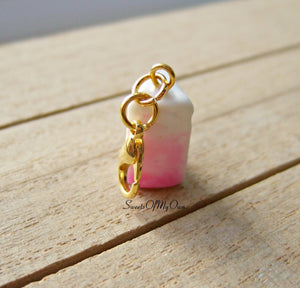 Pink Ombre Cake Slice Charm (small) - SweetsOfMyOwn