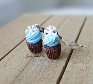 Winter Cupcake - Dangle Earrings - MTO