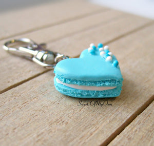 Blue Heart Macaron Coloured Ball Sprinkles Charm - SweetsOfMyOwn