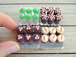 Miniature Carrot Cake Cupcakes - Doll House 1:12 Scale