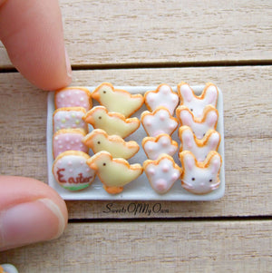 Easter Biscuits Set Miniature 1:12 Scale - SweetsOfMyOwn