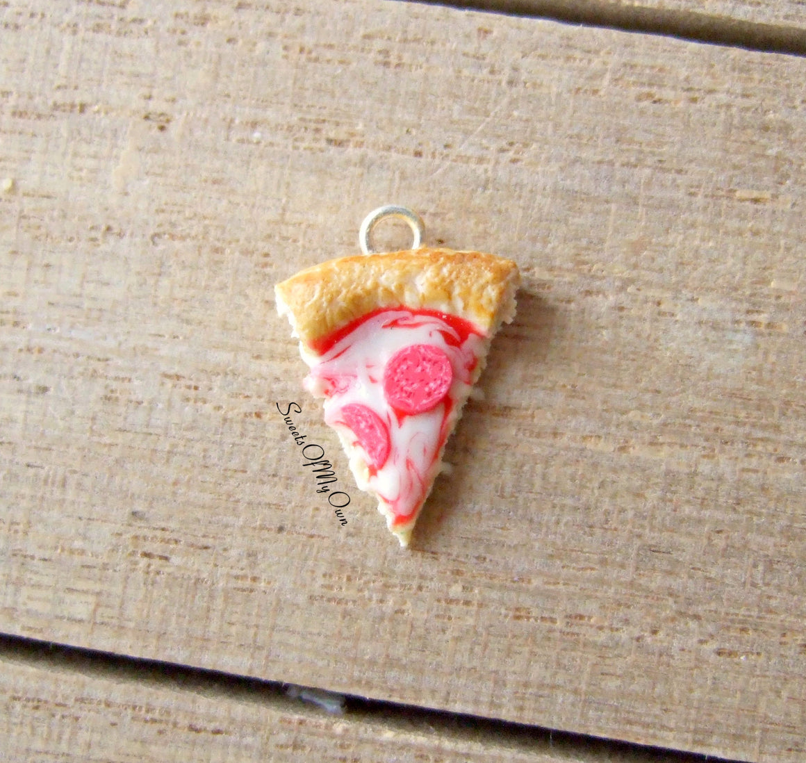 Pepperoni Pizza Slice Charm (small) - SweetsOfMyOwn