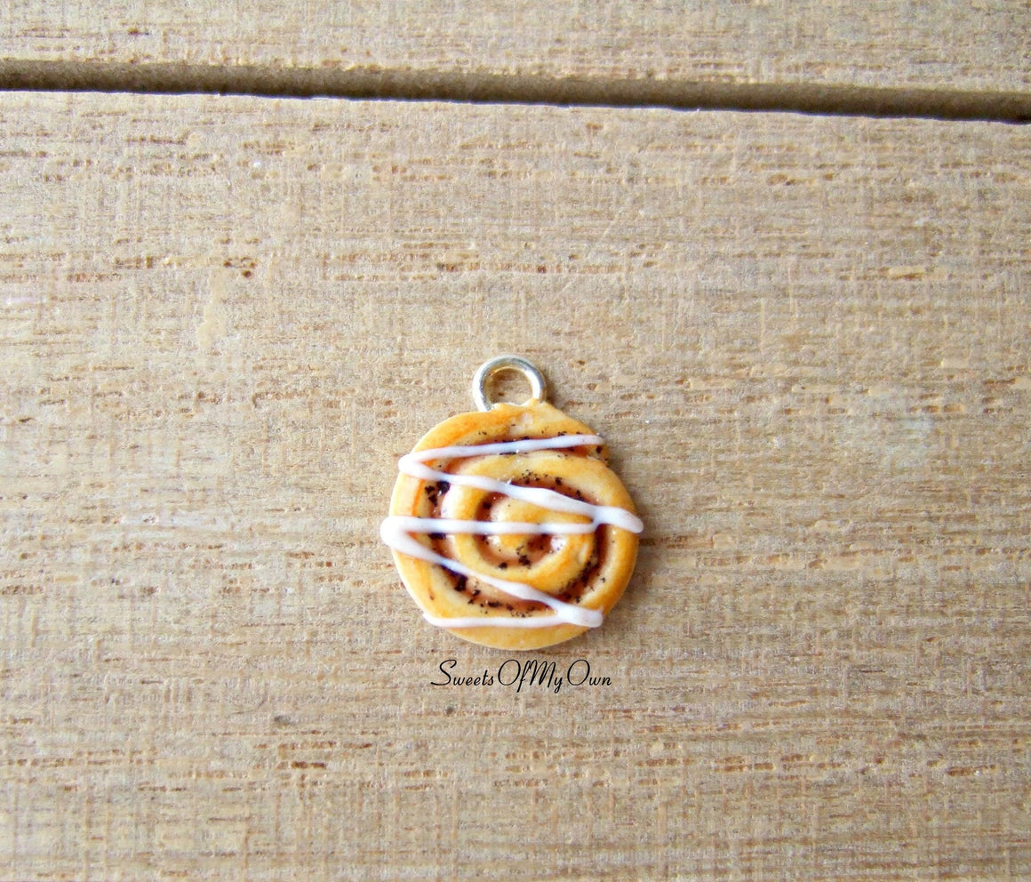 Cinnamon Swirl Charm (small) - Charm/Necklace - MTO