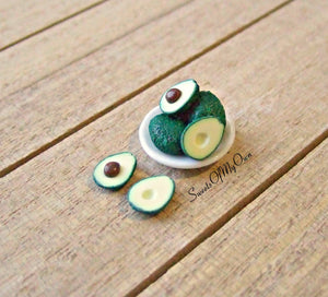 Miniature Avocado Set  1:12 Scale