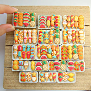 Miniature Summer Biscuit Set 1:12 Scale - Choose Your Set