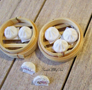 Steamed Buns Miniature 1:12 Scale - SweetsOfMyOwn