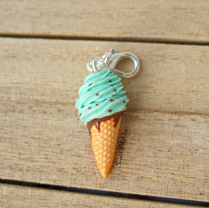 Mint Chocolate Chip Ice Cream Charm - SweetsOfMyOwn