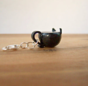 Black Cat Mug with Boo! Latte Art Charm - SweetsOfMyOwn