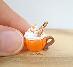 Pumpkin Spice Deluxe Hot Chocolate Drink - Necklace/Charm - MTO