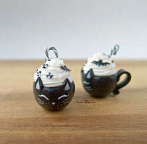 Black Cat Deluxe Hot Chocolate Drink Charm - SweetsOfMyOwn