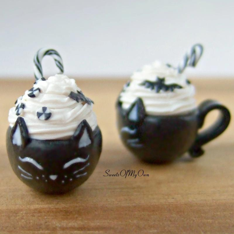 Black Cat Deluxe Hot Chocolate Drink Miniature - SweetsOfMyOwn
