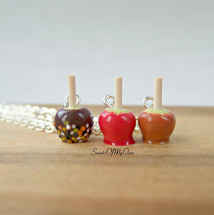Chocolate Apple with Halloween Confetti Charm