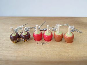 Toffee Apple Earrings Dangle Earrings