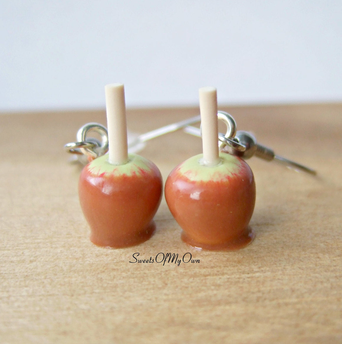 Toffee Apple Earrings Dangle Earrings - SweetsOfMyOwn