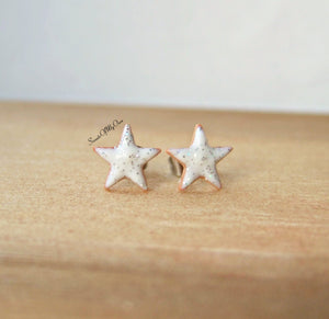 Gingerbread Glitter Star Biscuit Stud Earrings - SweetsOfMyOwn