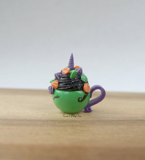 Green Witch Unicorn Hot Chocolate Miniature 1:12 Scale - SweetsOfMyOwn