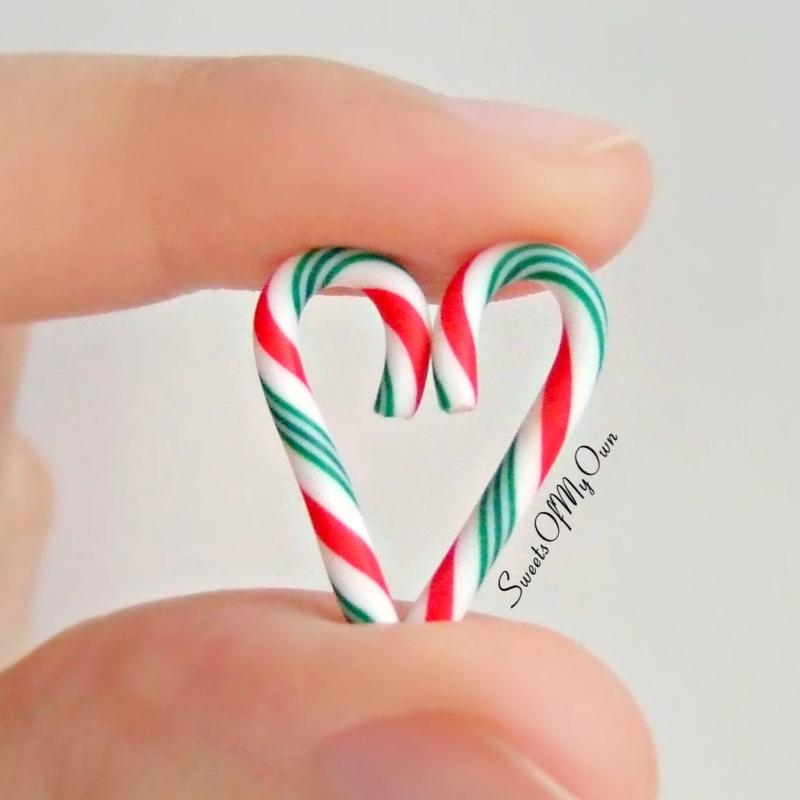 Candy Cane Dangle Earrings (Red, White and Green)