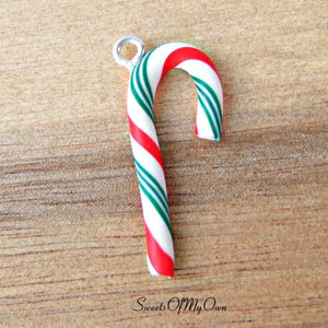 Candy Cane Charm (Red, White, Green)